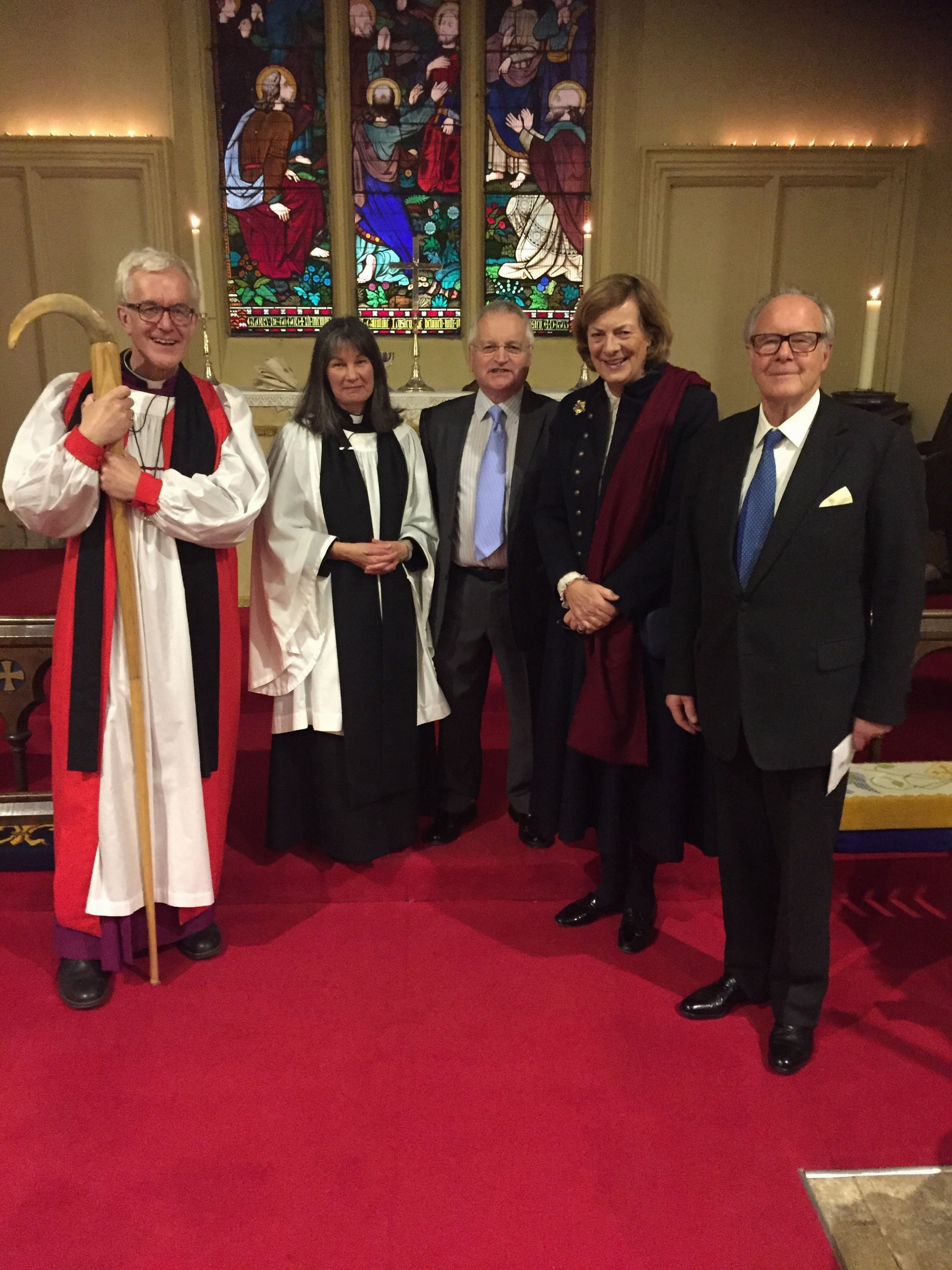 01 - (left to right) Bishop Ed, Rev Linda Carter, Richard Carter, Lady Lansdowne, Lord Lansdowne